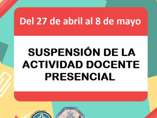 3ª PRÓRROGA SUSPENSIÓN ACTIVIDAD DOCENTE PRESENCIAL